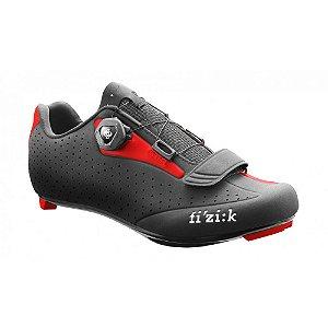 Sapatilha Para Ciclismo Fizik R5 Preto/Vermelho   SPEED  - Ciclismo de Estrada