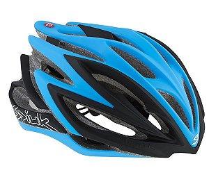 Capacete Para Ciclismo Spiuk Dharma Preto e Azul - Mountain Bike ou Speed