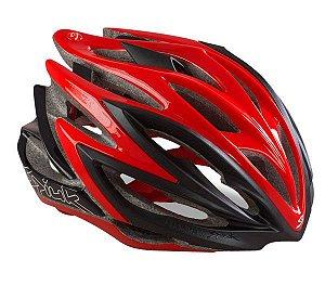 Capacete Para Ciclismo Spiuk Dharma Preto e Vermelho - Mountain Bike ou Speed