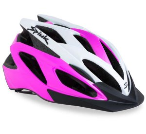 Capacete Para Ciclismo Spiuk Tamera Rosa e Branco - Mountain Bike Ou Speed