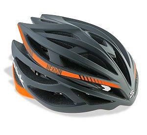 Capacete Para Ciclismo Spiuk Nexion Preto Com Laranja - Mountain Bike ou Speed