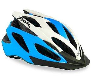 Capacete Para Ciclismo Spiuk Tamera Azul e Branco - Mountain Bike Ou Speed