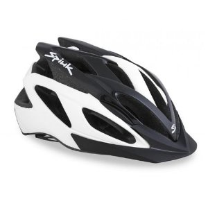 Capacete Para Ciclismo Spiuk Tamera Preto e Branco - Mountain Bike Ou Speed