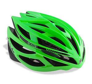 Capacete Para Ciclismo Spiuk Nexion Verde Com Preto - Mountain Bike ou Speed