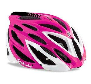 Capacete Para Ciclismo Spiuk Zirion Rosa Com Branco - Mountain Bike e Speed