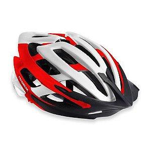 Capacete Para Ciclismo Arbok Escalera Vermelho/Branco - Mountain Bike ou Speed