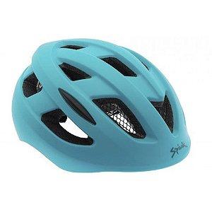 Capacete Para Ciclismo Spiuk Hiri Azul Fosco- Urbano Com Led