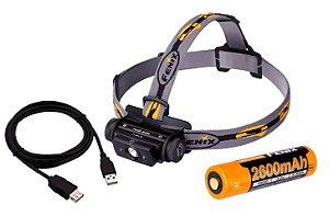 Lanterna Fenix HL60R 950 Lumens + Bateria 2600 + Carregador USB
