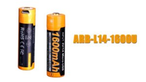 Bateria Fenix 14500 - 1600U mAh USB