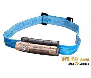 Lanterna Fenix - HL10 Dourada - 70 Lúmens