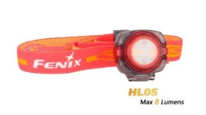 Lanterna Fenix - HL05 Vermelha - 8 Lúmens