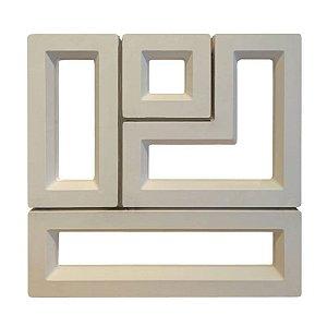 kit 4 Formas Dupla Face Cobogó - modelo Puzzle - Ref.517