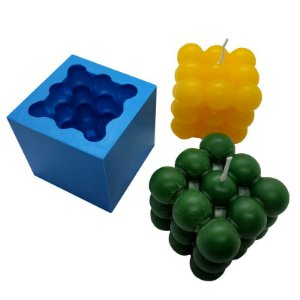 MDL 14 - Molde de silicone p/ Vela - Cubo 3d Grande