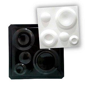 BLACK 10 - Forma ABS 2mm Gesso/Cimento - Lunar 38,5 x 38,5 cm
