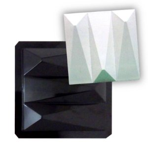 BLACK 16 - Forma ABS 2mm Gesso/Cimento - Cunha Tripla 29 x 29