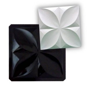 BLACK 33 - Forma ABS 2mm Gesso/Cimento - Pétalas Slim 39 X 39 cm
