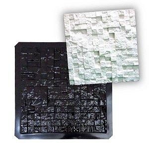 BLACK 42 - Forma ABS 2mm Gesso/Cimento - Mosaiquinho 39 x 39