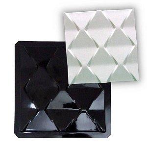 BLACK 43 - Forma ABS 2mm Gesso/Cimento - Ocean 38,5 x 38,5 cm