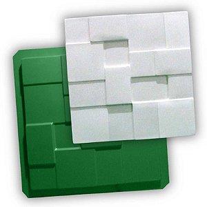 ECO 04 - Forma ABS 1mm Gesso/Cimento - Geométrico 38,5 X 38,5 cm