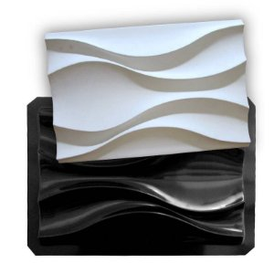 BLACK 08 - Forma ABS 2mm Gesso/Cimento - Dunas 44 X 29,5 cm