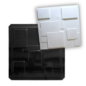 BLACK 11 - Forma ABS 2mm Gesso/Cimento - Quadratto 39,5 X 39,5 cm
