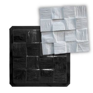 BLACK 18 - Forma ABS 2mm Gesso/Cimento - Wood 33 X 33