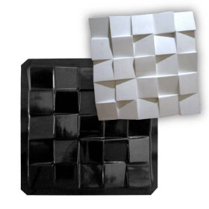 BLACK 47 - Forma ABS 2mm Gesso/Cimento - Diagonal Plus 41 X 41