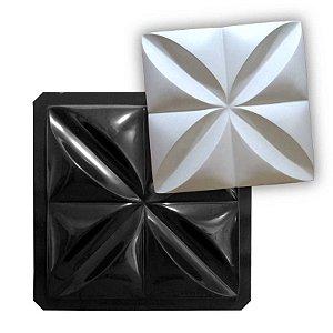 BLACK 02 - Forma ABS 2mm Gesso/Cimento - Pétalas 35,5 X 35,5