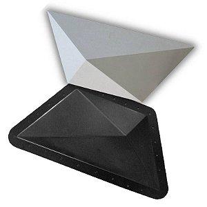 BLACK 51 - Forma ABS 2mm Gesso/Cimento - Trapézio 43 X 19 cm