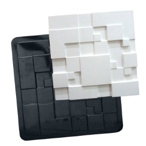 BLACK 56 - Forma ABS 2mm Gesso/Cimento - Metropole 39,5 x 39,5 cm