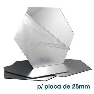 Acrílico Reflex para placas mod. 71 de 25mm (unitário)