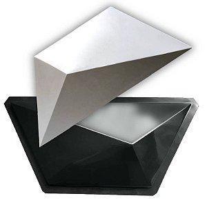 BLACK 412 - Forma ABS 2mm Gesso/Cimento - Trapézio 59 X 26 CM