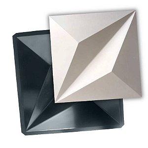 BLACK 414 - Forma ABS 2mm Gesso/Cimento - Pirâmides 50 X 50 CM