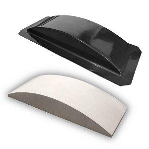 BLACK 73 - Forma ABS 2mm Gesso/Cimento - Tijolinho Côncavo 30 X 10 cm