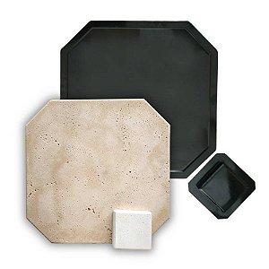 PISO 705 - Kit de Formas p/ Piso Atérmico Vertex - 40x40 cm e 10x10 cm
