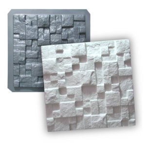 PRO 01 - Forma ABS 1.5 mm Gesso/Cimento - Mosaico Natural 28 X 28 cm