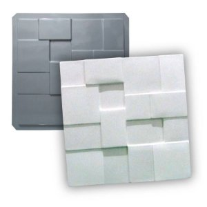 PRO 04 - Forma ABS 1.5 mm Gesso/Cimento - Geométrico 38,5 X 38,5 cm