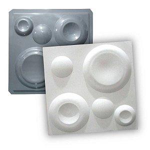 PRO 10 - Forma ABS 1.5 mm Gesso/Cimento - Lunar 38,5 X 38,5 cm