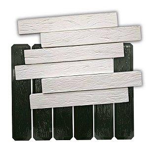 BLACK 417 - kit de formas ABS 2mm Gesso/Cimento - Ripado  6 pçs 59 X 9 cm