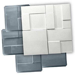 PRO 84 - Kit 4 Formas ABS 1.5 mm Gesso/Cimento - Mosaico Liso 30 X 30 cm