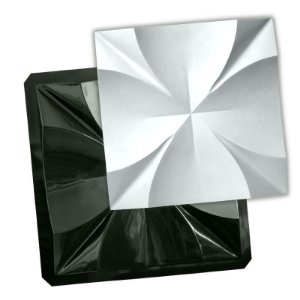 BLACK 86 - Forma ABS 2mm Gesso/Cimento - Malta 40 x 40 cm