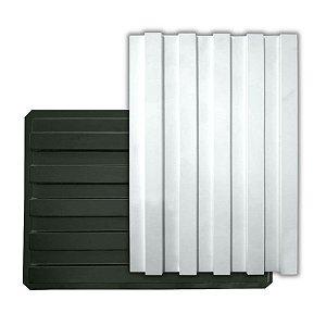 BLACK 420 - Forma ABS 2mm Gesso/Cimento - Ripado 60x42 cm