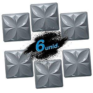 KIT 6 formas PRO 33 - ABS 1.5 mm Gesso/Cimento - Pétalas Slim 39 X 39 cm
