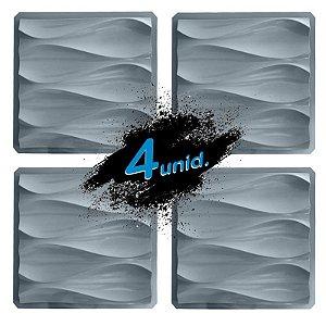 KIT 4 formas PRO 88 - ABS 1.5 mm Gesso/Cimento - Dunas 40 X 40 cm