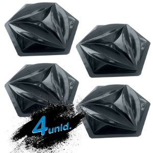 KIT 4 formas BLACK 76 - Forma ABS 2mm Gesso/Cimento - Flower 44 X 38 cm