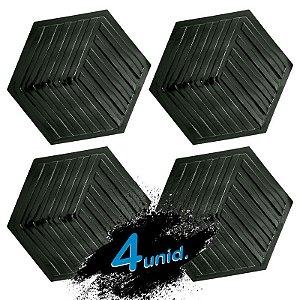 KIT 4 formas BLACK 90 - ABS 2mm Gesso/Cimento - Labirinto 44 x 38 cm