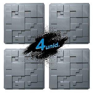 KIT 4 formas PRO 56 - ABS 1.5 mm Gesso/Cimento - Metrópole 39,5 X 39,5 cm