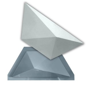 PRO 93 - Forma ABS 1.5 mm Gesso/Cimento - Trapézio 30 X 13 cm