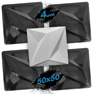 KIT 4 formas BLACK 404 - ABS 2mm Gesso/Cimento - Thor 50 x 50 cm