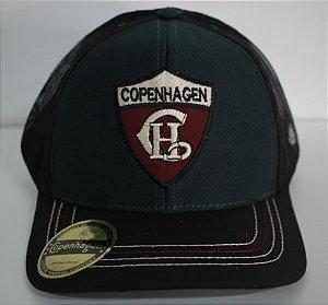 BONÉ COPENHAGEN BLACK - GREEN